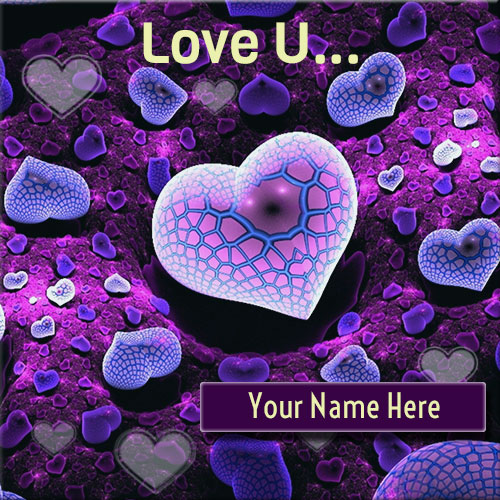 Write Your Name On Love You Purple Hearts Pics