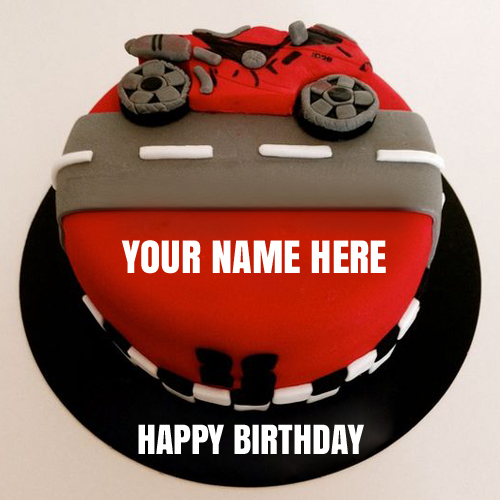 Write Your Name on Happy Birthday Celebration Cake Online Fr