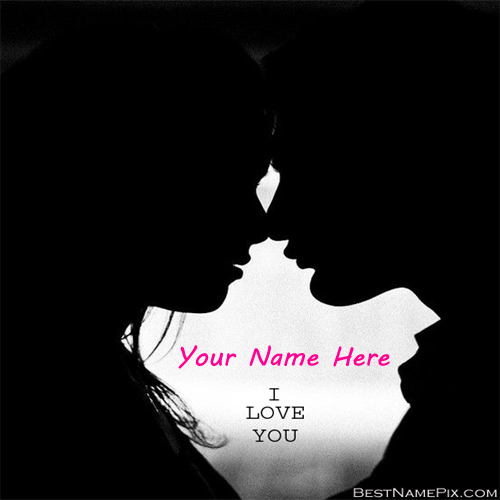 Write Your Name On Cute Love Couple Picture