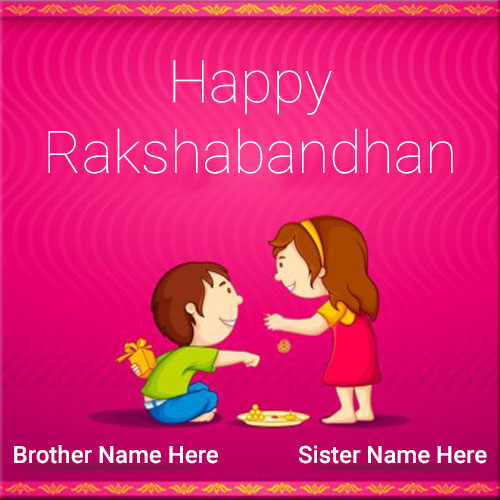 Happy Rakshabandhan Wishes With Brother and Sister Name