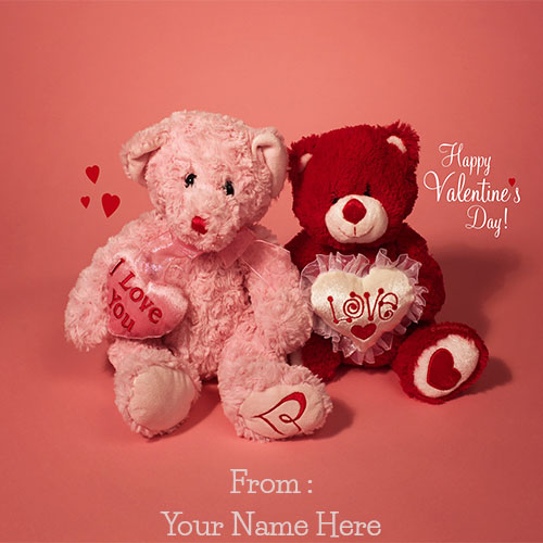 Generate Happy Valentines Day Teddy Pics With Your Name