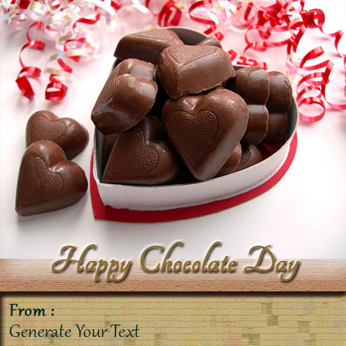 Heart Shape Chocolate Wishes Picture With Your Name