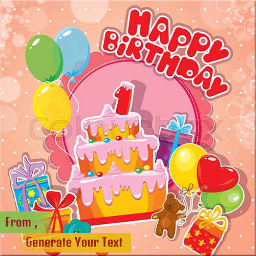 Happy Birthday Celebration Greeting Card Name Pics