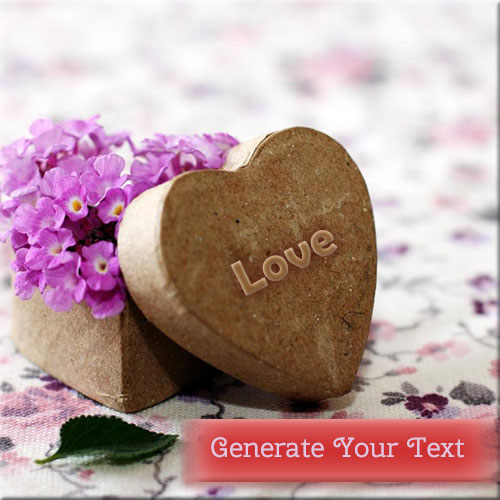 Write Your Name On Beautiful Love Heart Picture