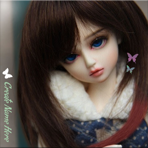 Create Name On Cute Barbie Doll With Blue Eyes Pics