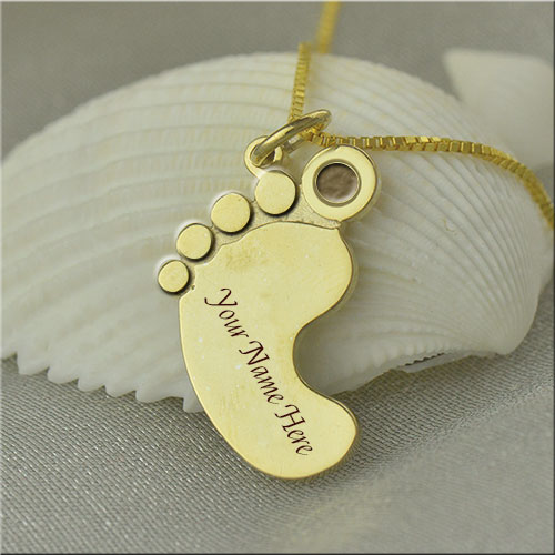 Create Good Name On Golden Foot Pendant Picture