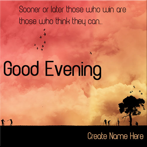 Create Good Evening Wishes Picture With Custom Text