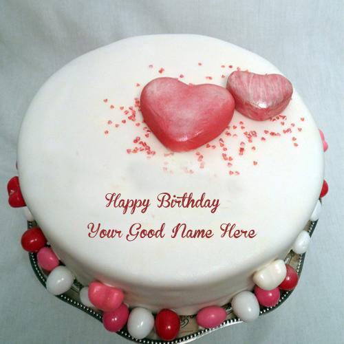 Birthday Wishes Heart Shaped Awesome Name Wish Cake Pix