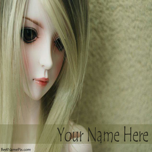 Write Your Name On Lovely Cute Barbie Doll Pictures