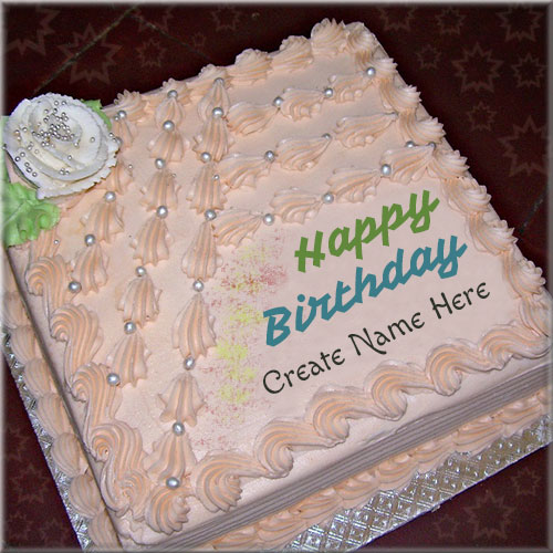 Write Name On Happy Birthday Buttercream Cake Pics