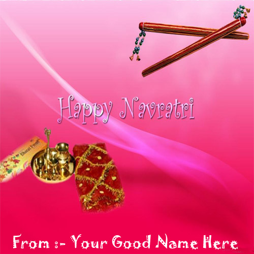 Happy Navratri Wishes Best Write Your Name Profile Pict