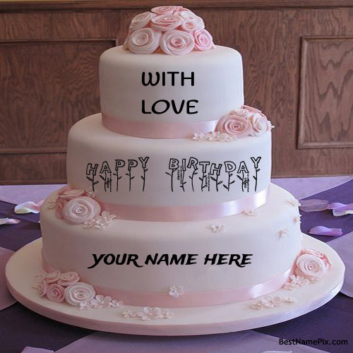Write Your Name On Yummy Strawberry Cakes Picture