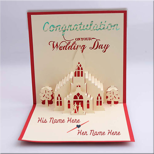Write Couple Name On Congratulations Wedding Card Pics
