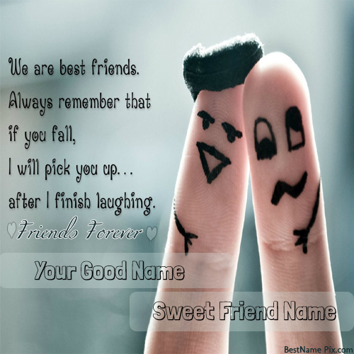 Write Your Name On Best Friends Fingers Picture