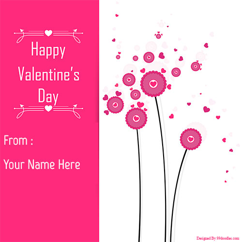 Happy Valentines Day Greetings With Your Name