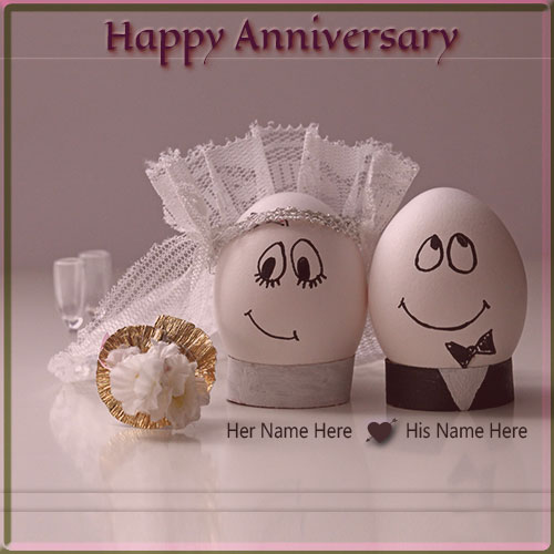 Generate Funny Hy Wedding Anniversary Name Pics