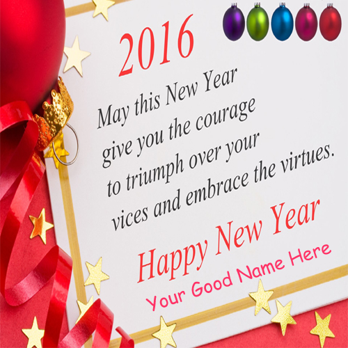 2016 Happy New Year Greeting Card Name Pictures