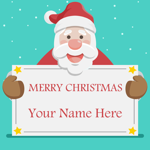 Lovely Santa Claus Greeting Card With Your Name