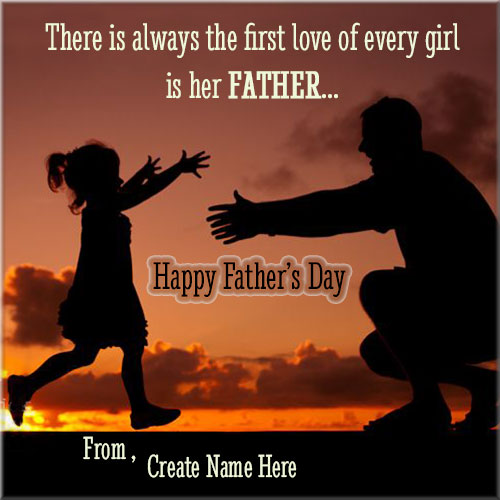 Write Custom Name On Happy Fathers Day Profile Picture