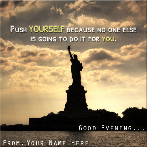 Custom Name On Statue Of Liberty Good Evening Pics