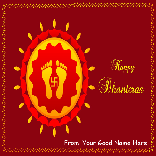 Happy Dhanteras Celebration Day Wishes DP Name Pictures