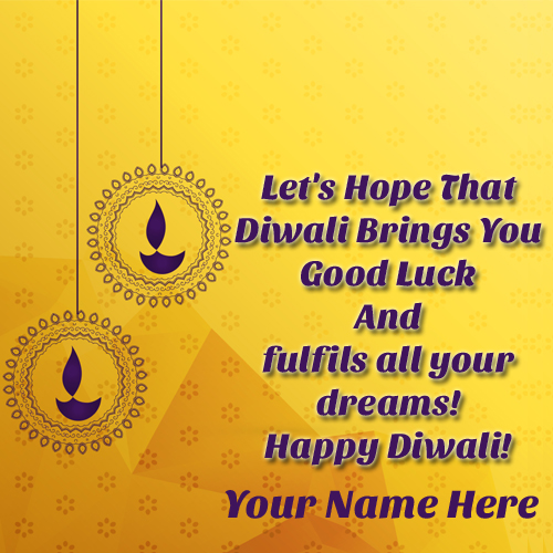 Diwali 2017 Whatsapp Profile Picture With Your Name