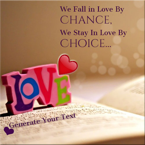Write Your Name On Fall In Love Profile Picture