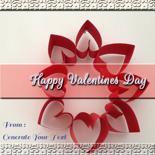 Generate Happy Valentines Day Wishes Pics With Name