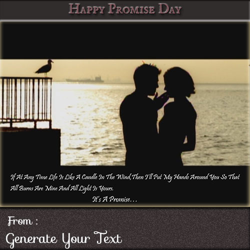 Happy Promise Day Couple Image With Custom Name