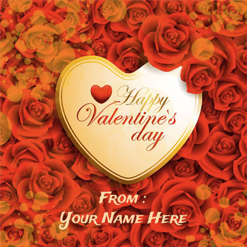 Generate Your Name On Happy Valentines Day Heart Pics