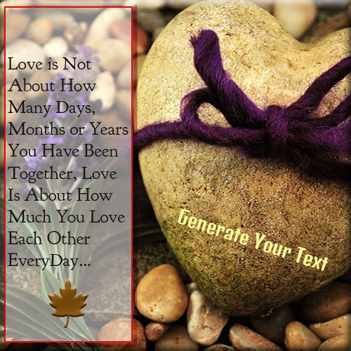 Write Your Name On Heart Love Stone Picture