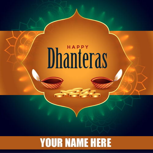 Shubh Dhanteras Diwali 2019 Whatsapp DP With Name