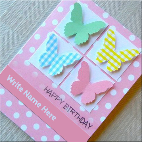 Happy Birthday Butterfly Wishes Card Pics With Name