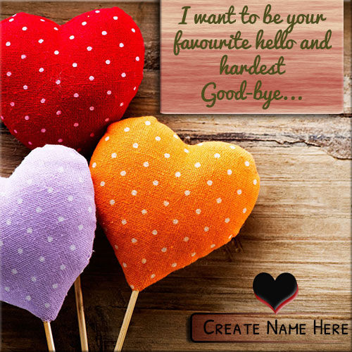 Online Print Your Name On Colorful Hearts Picture