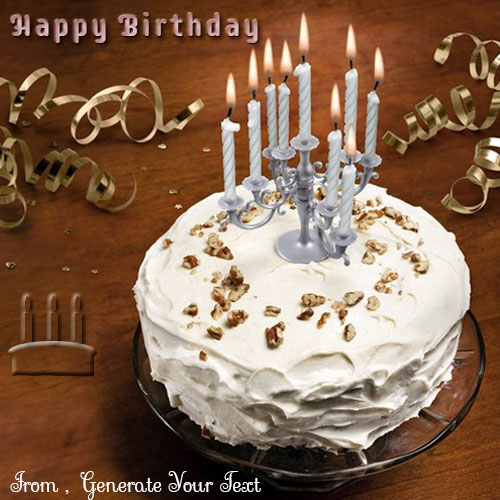 Create Beautiful Candles Cake Wishes Name Picture