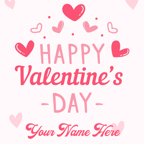 Happy Valentines Day 2018 Love Greeting With Name