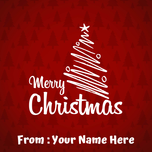 Write Name On Merry Christmas Wishes Card Pics