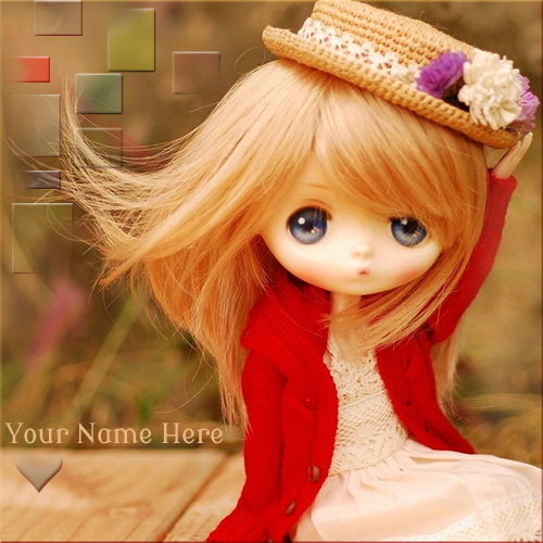 Personalized Sweet Barbie Doll Pics With Your Name