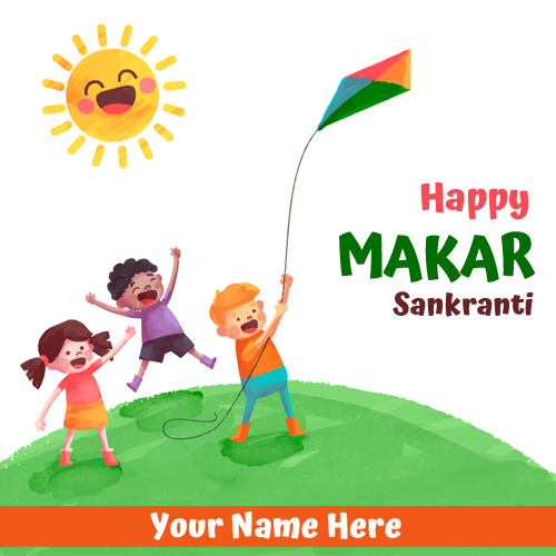 Happy Makar Sankranti Greetings With Your Name