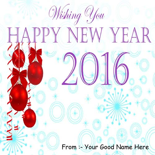 New Year 2016 Best Wishes Name DP Profile Pictures