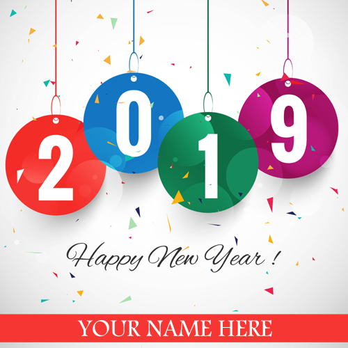 Beautiful Happy New Year 2019 Greeting With Name