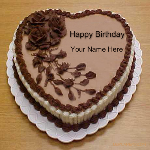 Print Your Name on Delicious Chocolate Cake Online Free