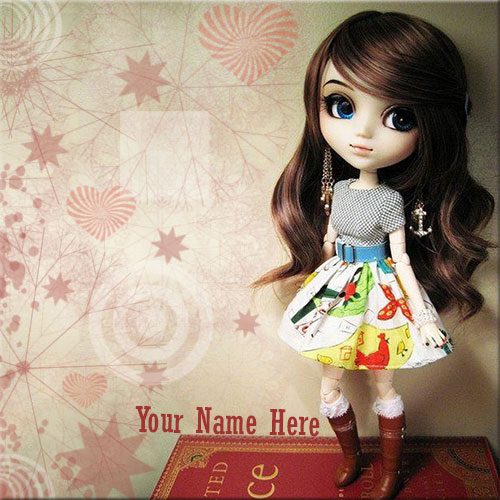 Online Custom Name On Fashionable Barbie Doll Picture