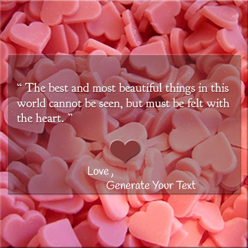Online Print Name On Best Love Quote Picture