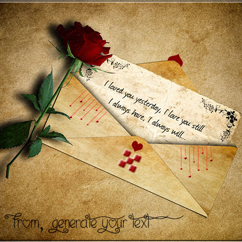 Write Your Custom Name On Love Letter Picture