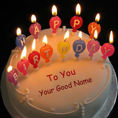 Lighting Candles Birthday Name Cakes Pictures