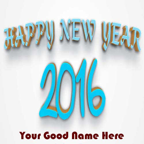 Nice Happy New Year 2016 Wishes DP Name Profile Picture