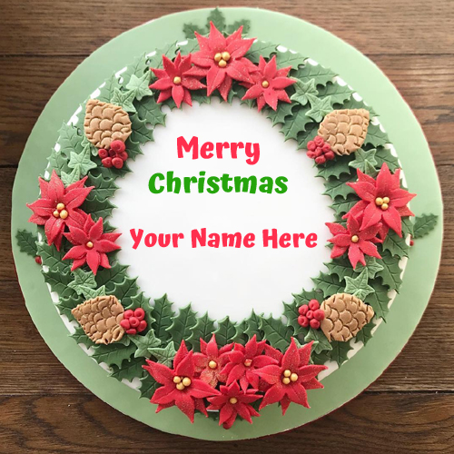 Brandy Soaked Christmas Cake With Your Name