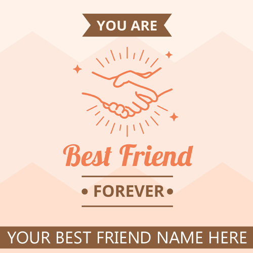 Best Friend Forever Promise Greeting With Name