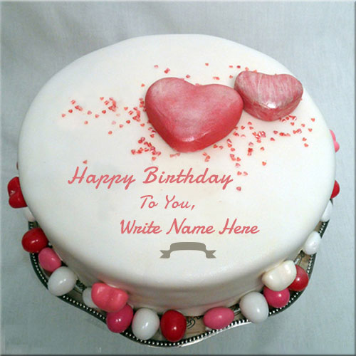 Write Name On Happy Birthday To You Cake For Lover